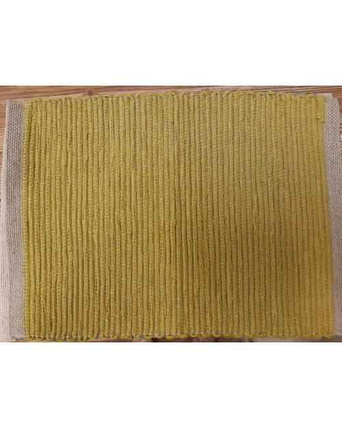 Pogrinjek ročno tkan Lara citrine 35x50