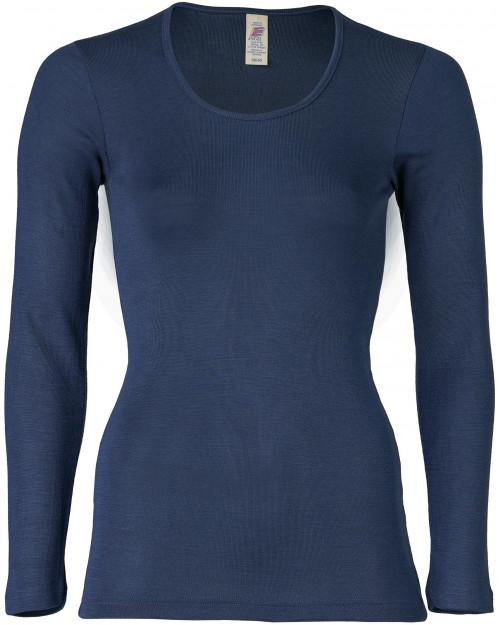 Ženska majica DR, modra - volna svila