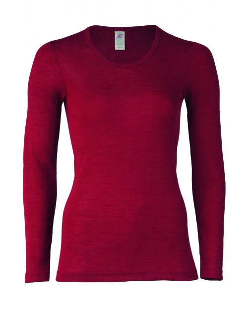 Ženska majica DR, rdeča - volna svila