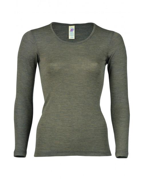 Ženska majica DR, rjava - volna svila