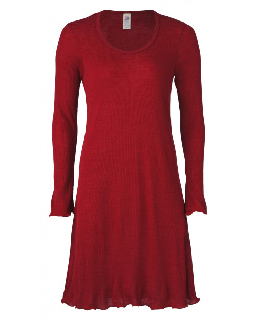 Ženska spalna srajca rdeča - volna svila