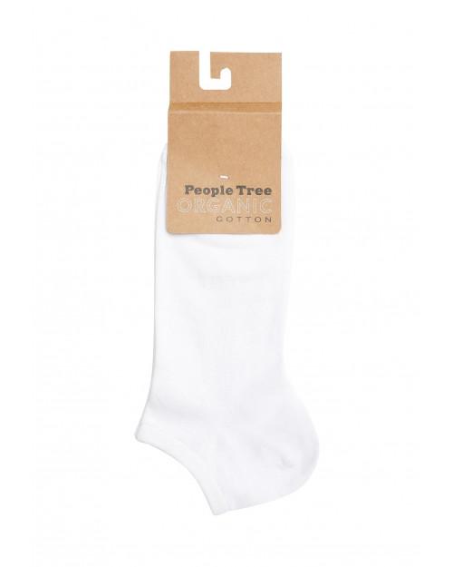 Kratke nogavice iz ekološkega bombaža People Tree bele