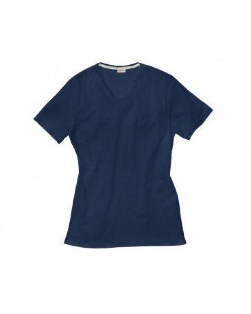 Majica moška KR t.modra V izrez- brez elastana