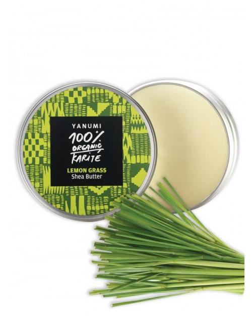 100% naravno karitejevo maslo z limonsko travo, 100 ml