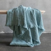 Lanena deka 155x200 Stone blue