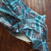 Volnena deka WoolMe 130x180 Marta turkizna