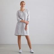 Obleka 100% lan Layla M graphite