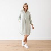 Obleka 100% lan Camilla moss green M
