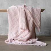 Lanena deka 155x200 Rosa