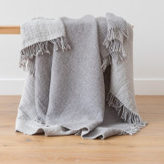 Volnena deka WoolMe 130x180 merino Marcus grey