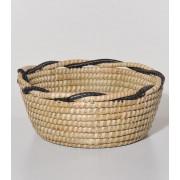Košara morska trava bombaž Fair Trade črna