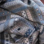 Volnena deka WoolMe 130x200 Marta siva