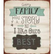 Kovinska tablica Family story